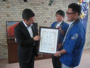<最新情報> 若林市長へ金賞受賞の報告会が開催されました。